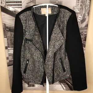 Bananas Republic Black and Grey twill jacket