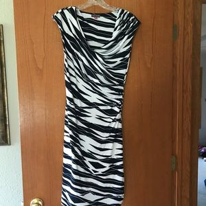 Vince Camuto Navy and White dress