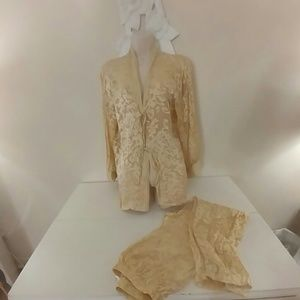 Sheer Gold 100% silk pajamas