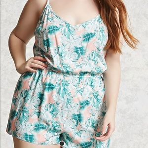 forever21 plus size tropical romper.