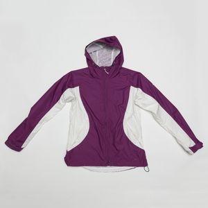 Columbia Yamhill Windbreaker Purple White Medium