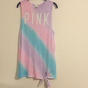 VS Pink Tie Dye Swim Cover