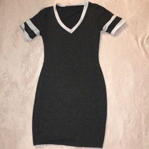 Short casual grey dress