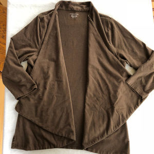 Charter Club Brown Drape Cardigan Size XL