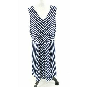 Ralph Lauren Blue White Striped Dress
