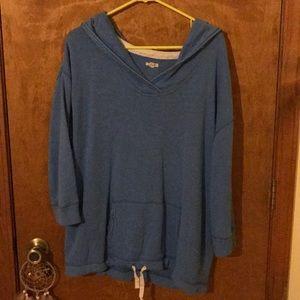 Aerie 3/4 sleeve terry hoodie