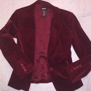 DKNY Red Velvet Blazer, size 6
