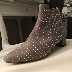 TopShop Studded Grey Suede Boots Size 9.5