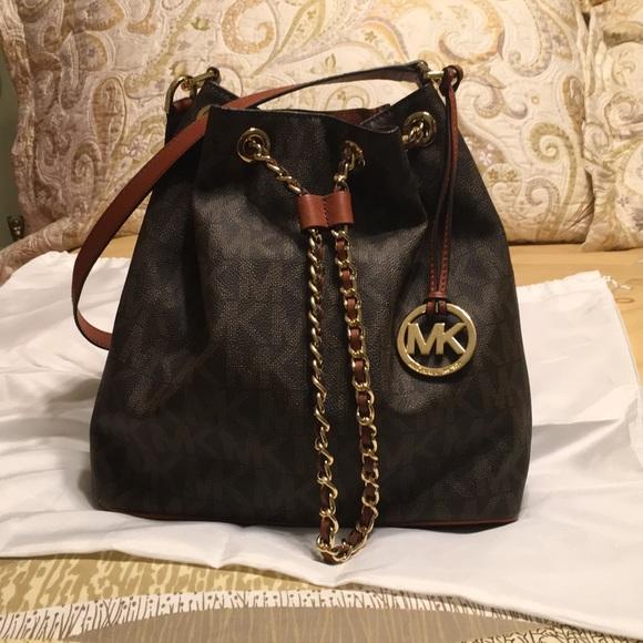 3afdcc534f4a Michael Kors Frankie Large Drawstring Monogram Bag