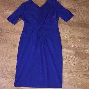 AMAZING ESCADA royal blue rouched dress