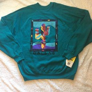 Vintage Dallas Cactus pullover sweatshirt