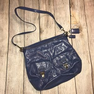 COACH crossbody bag in light blue/periwinkle