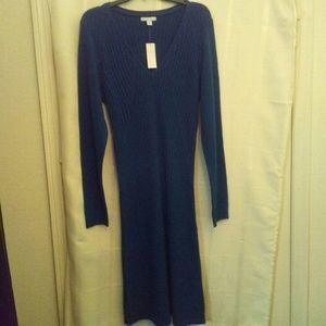 New! New York & Co blue sweater dress