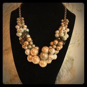 Vintage look Lia Sophia statement necklace
