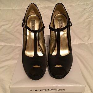 Steve Madden Glaree Black Heels Size 8.5