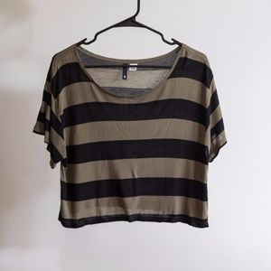 Striped Jersey Crop Top
