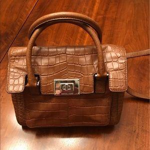 🎉HP🎉Michael Kors satchel bag in embossed leather