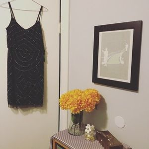 Navy with Silver Beading Dress