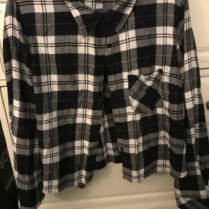 Forever 21+ Cropped Flannel