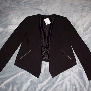 HM Black Drape Front Blazer