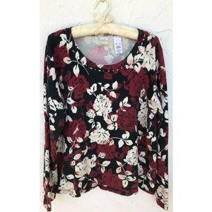 Emma James Cotton Blend Patterned Sweater