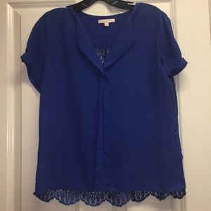 Stitch fix Royal Blue lace blouse