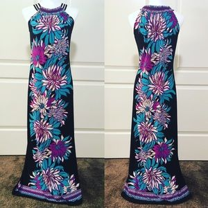 Sea Urchin Floral Maxi with Sexy Straps