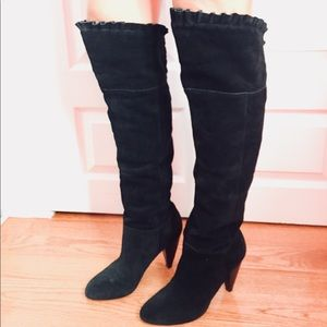 BCBGENERATION Black Suede over the knee boots in 9