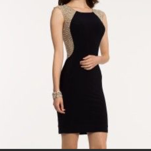 24b810a5 Xscape Beaded Mesh & Jersey Sheath Dress. M_5a1239337fab3ab2340b253a