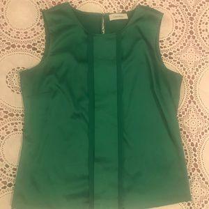 Calvin Klein Festive Emerald Sleeveless Blouse