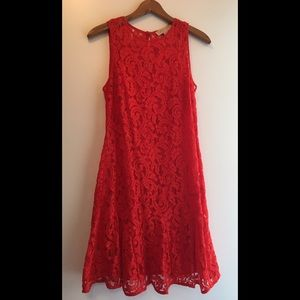 Michael by Micheal Kors Red Lace Dress