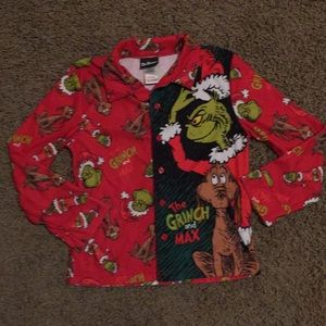 Dr. Seuss Pajamas - Dr. Seuss The Grinch Christmas Pjs c6f9bde04