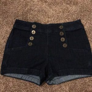Blue jean sailor shorts
