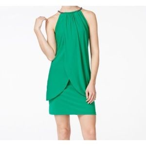 Jessica Simpson Emerald Green Cocktail Dress EUC