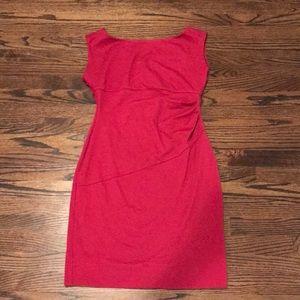 Diane VonFurstenberg cranberry dress.
