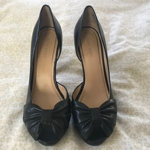 Black Nine West Peep Toe Pumps Size 7