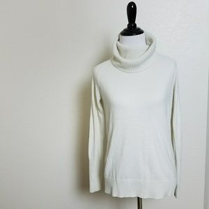 Loft Off White Turtleneck Sweater