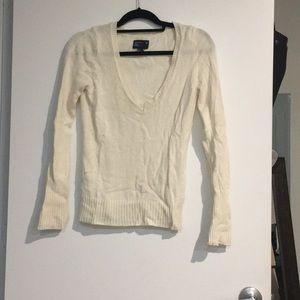 Off white vneck sweater
