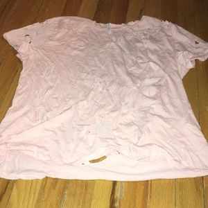 Urban Outfitters distressed pink t-shirt!