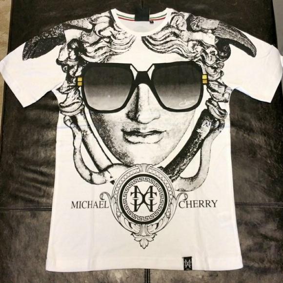 Michael Cherry Shirts | Versace Frames Whiteblack | Poshmark