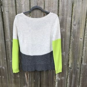 Free people wool blend color block sweater. Size M