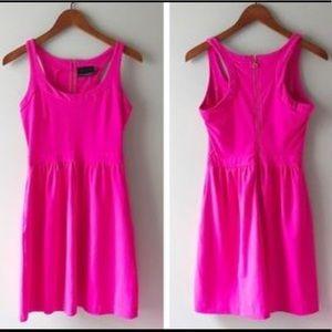 Cynthia Rowley pink racerback dress with pockets