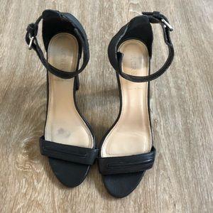 J.Crew Block Heels Black Leather size 7.5