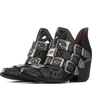 The Jeffrey Campbell Wycliff heel western booties