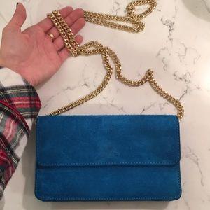 Banana republic blue wallet on a chain