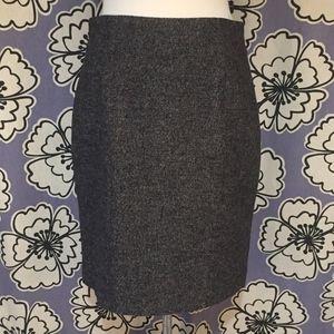 Banana Republic Black & Gray Pencil Skirt Size 8