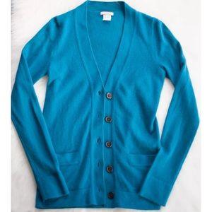 J.Crew Italian Cashmere V-Neck Cardigan Sweater