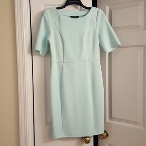 Teal mini fitted dress