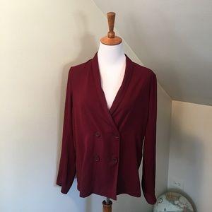 NWT Forever 21 Maroon Red Fashion Blazer S