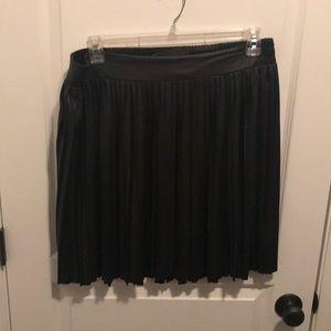 Black, knee length skater skirt